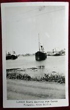 Postcard RPPC Pugwash Nova Scotia Canada Lumber Boats Waiting For Cargo
