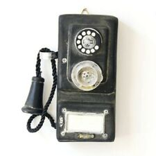 More details for antique rotary wall-mounted pay phone model vintage booth telephone figurine