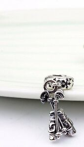 Sterling Silver Golf Clubs European Style Charm for a Necklace or Bracelet