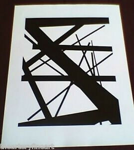 JAMES WELLING 'New Abstractions #21', 1998 SIGNED Photograph Limited Edition
