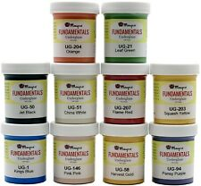 Mayco Underglaze Set 1 - Set of 10 Colors in 2 ounce Jars w/How To Paint Booklet