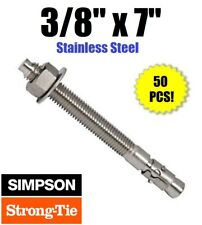"50PK 3//8 x 7/"" Red Head Simpson Strong-Tie WA37700 Wedge-All Anchor Stud"