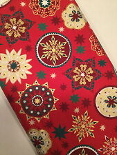 100% Cotton Christmas Fabric by Metre & Fat Quarters Festive Craft Sewing X58