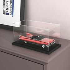 HOPEME Clear Acrylic Display Case with Black Velvet Base, Simple Self-Assembly