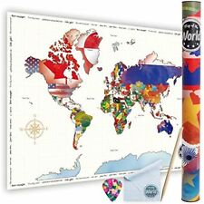 Scratch Maps Off World By Large Size 61 85 Cm Travel Made With Pure White Paper