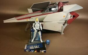Star Wars V Wing Starfighter Hasbro Republic Clone Trooper pilot ship CW14 cw