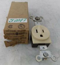 GENERAL ELECTRIC 15A 125V IVORY SINGLE GROUNDING OUTLET GE4094-2 NIB