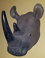 rhinoceros wall sculpture