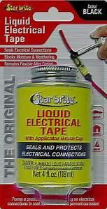 Star Brite Liquid Electrical Tape - 4 Oz Can with Applicator Brush Cap Black