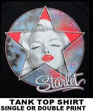 BEAUTIFUL SEXY ICONIC SUPER MOVIE STAR MARILYN MONROE CELEBRITY TANK TOP SHIRT