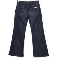 Calvin Klein Jeans Womens Wide Flare Jeans Size 4 x 31 Dark Stretch