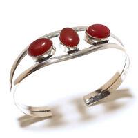 Beautiful Silver Plated Ruby Cuff Bangel Handmade Gemstone Jewelry