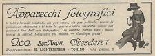 W1613 Apparecchi fotografici ICA - Pubblicità del 1925 - Old advertising