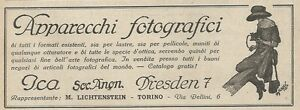 W1613 Gadgets Photographic Ica - Advertising Of 1925 - Old Advertising