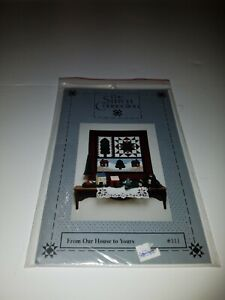 """VTG 1992 wall quilt FROM OUR HOUSE TO YOURS #111 - 28"""" square  uncut pattern"""
