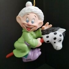 Disney Dopey Porcelain Ornament Snow White and Seven Dwarfs Dated 1996 Grolier