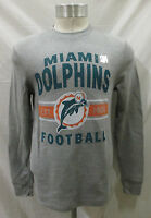 Miami Dolphins Men's S, 2XL Tail Gate Long Sleeve Thermal Shirt  NFL Gray A14