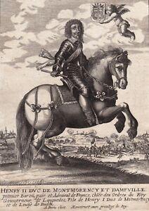 Portrait XVIIe Henri II De Montmorency Amiral Gouverneur du Languedoc Moncornet
