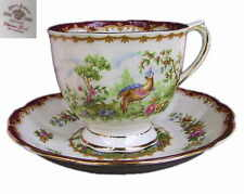 Royal Albert CHELSEA BIRD Rare Large Breakfast Cup & Saucer Set 1st Eng c1941