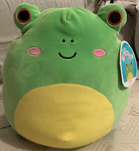 """Squishmallow Wendy the Frog 12"""" NWT Red Eyes! PLUSH KELLYTOY SPRING SUMMER 2021"""