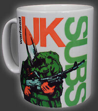 UK Subs ojiva soldado Charlie Harper Punk Rock 10 OZ (approx. 283.49 g) Té Café Taza Taza Ejército