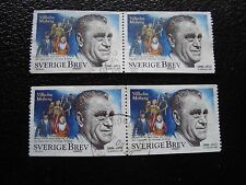 SUEDE - timbre yvert et tellier n° 2052 x4 obl (A29) stamp sweden