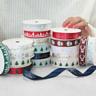 Christmas Grosgrain / Satin Ribbon 16mm Wide Crafts Decoration Presents Printed