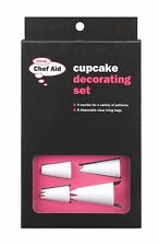 Chef Aid 12 pièces Cupcake Décoration Set 4 buses et 8 jetables clair cerise