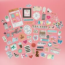 78 PCS Ephemera Embellishments Planner Stickers Craft Cardmaking Scrapbooking
