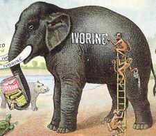 "MONKEYS WASHING ""JUMBO"" with IVORINE SOAP TRADE CARD, OTHER ANIMALS WATCHING C44"