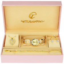Gift Set Women's Watch - Jewelry Set- Necklace-Ring- Earrings - Band