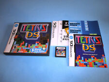 Tetris DS Nintendo DS Lite DSi XL 3DS 2DS w/Case, Manual & Inserts