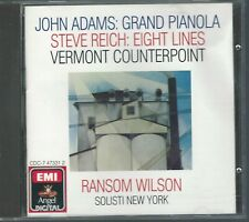 CD: JOHN ADAMS/Grand Pianola Music, STEVE REICH/Eight Lines/Vermont Counterpoint