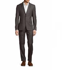 NEW $1295 VERSACE COLLECTION Solid Grey Woolen Men Suit 44 R (Eu 54)