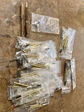 European Style Pen Kit Lot, Gold, Chrome, Satin Chrome- 27 Tot. Woodturning