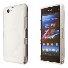 Sony Xperia Z1 Compact Mini teléfono TPU caso cubierta de silicona transparente