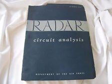 Department of the Air Force Radar Circuit Analysis Manual 52-8