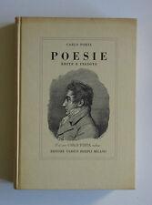 Carlo Porta Poesie edite e inedite Angelo Ottolini Parini Alessandro Manzoni