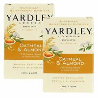 (2 Pack) Yardley London Oatmeal & Almond Naturally Moisturizing Bath Bar 4.25 Oz