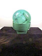 6 round green plastic design bowls for fresh flower arrangements
