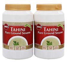 Barons Kosher 100% Pure Ground Sesame Tahini 16-ounce Jars Pack of 2