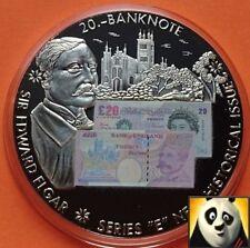 LARGE 50mm £20 Twenty Pound Sir Edward Elgar British Banknote Sticker Medal Coin