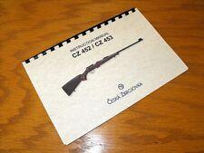 CZ 452 CZ 453 ZKM Rifle English Language OWNERS Instruction MANUAL