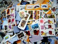 200 pcs Australian On Paper Randomly Picked Stamps Collection Lot Australia