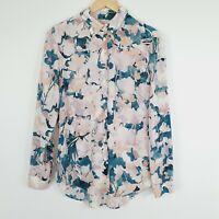 Sportscraft Women's Silk Button Up Shirt Floral Print Size 6