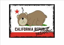 California republic style vintage métal signe california dreaming signe american