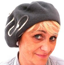 Damenmütze Baskenmütze von Mc Burn in Grau  elegant  Mütze