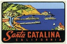 Santa Catalina Island  CA  Vintage Style  Travel Decal sticker California