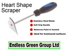 Heart Shape Scraper / Shavehook - to remove paint & varnish from difficult areas