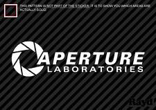 "8"" Aperture Science Laboratories Sticker Decal Portal vinyl"